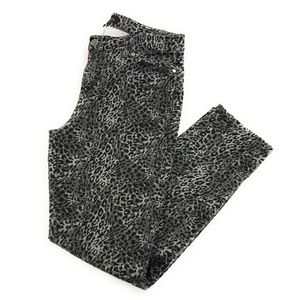 Talbots Gray Black Leopard Signature Skinny Jeans